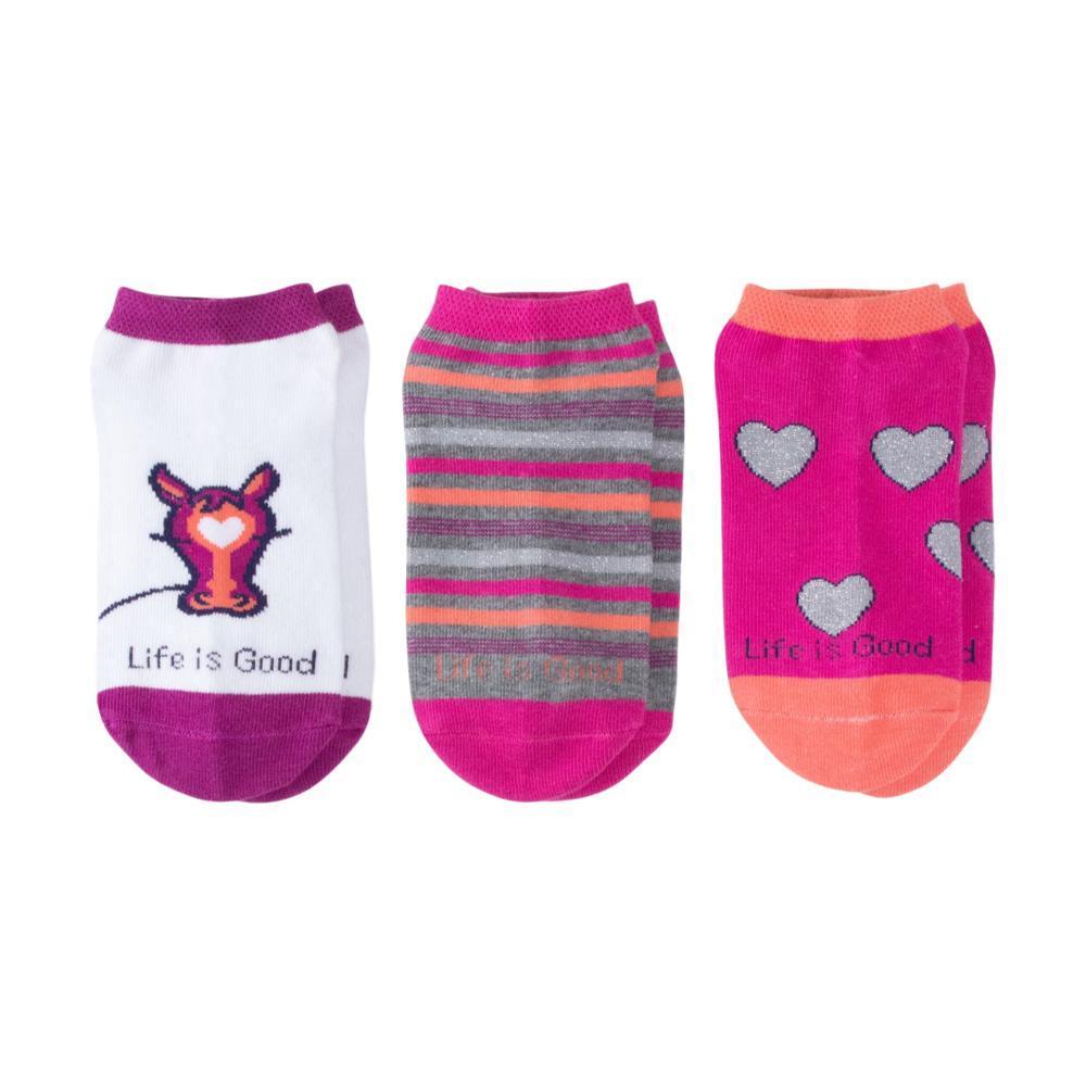 Life is Good Girls Horses & Hearts Low Cut Socks-3-Pack HORSEHEARTS