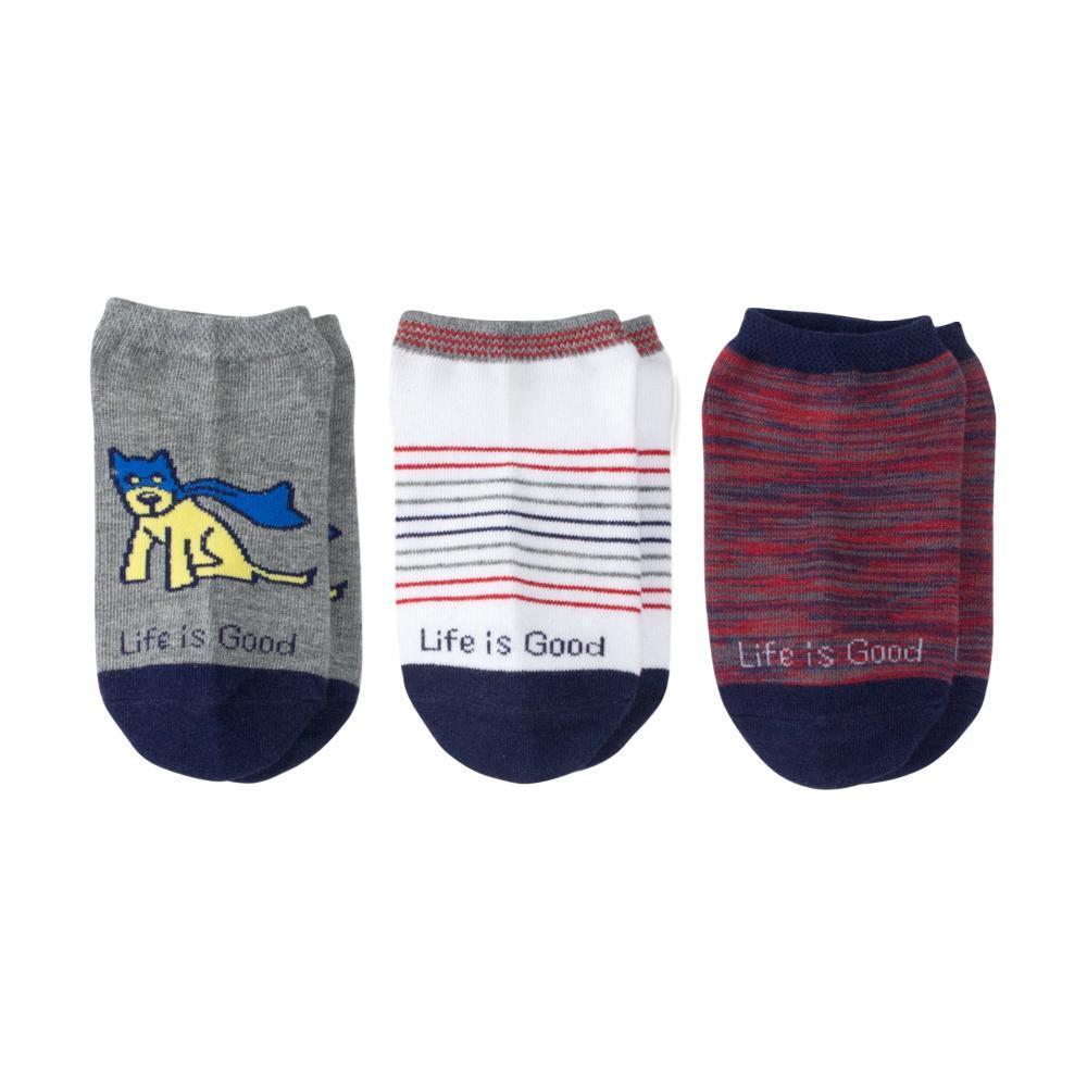 Life is Good Boys Super Rocket Low Cut Socks-3-Pack SUPERJAKE