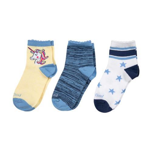 Life is Good Girls Unicorn Quarter Socks-3-Pack