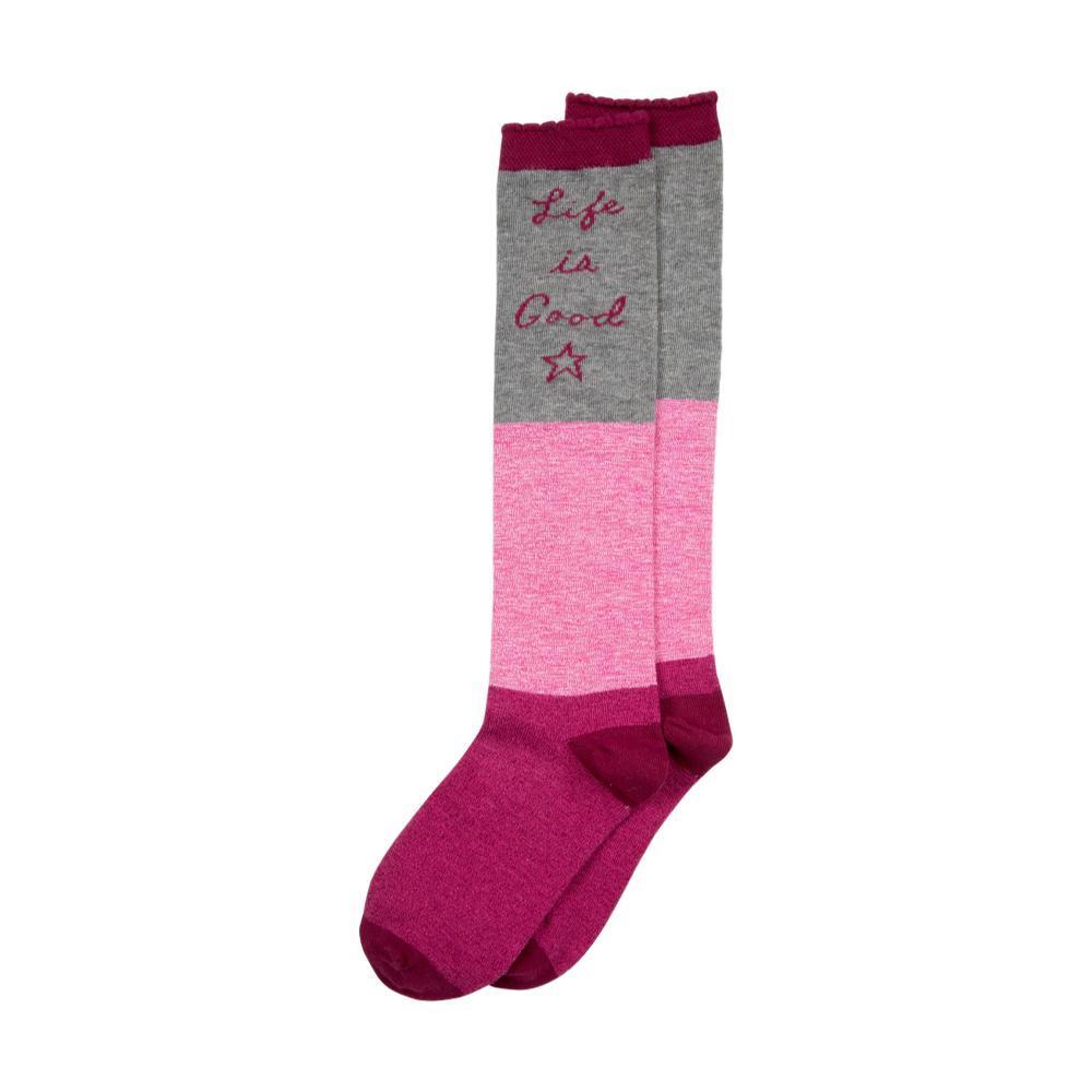 Life is Good Girls Knee High Socks LIGPINKSTAR