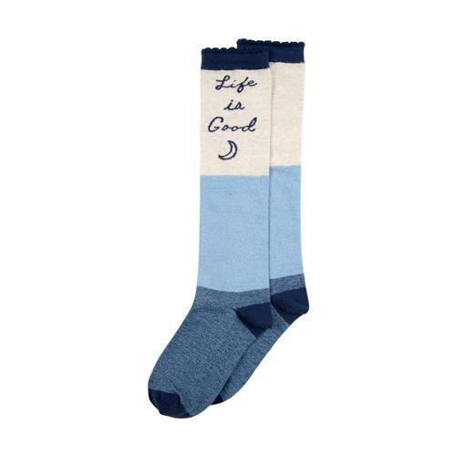 Life is Good Girls Knee High Socks Ligblumoon