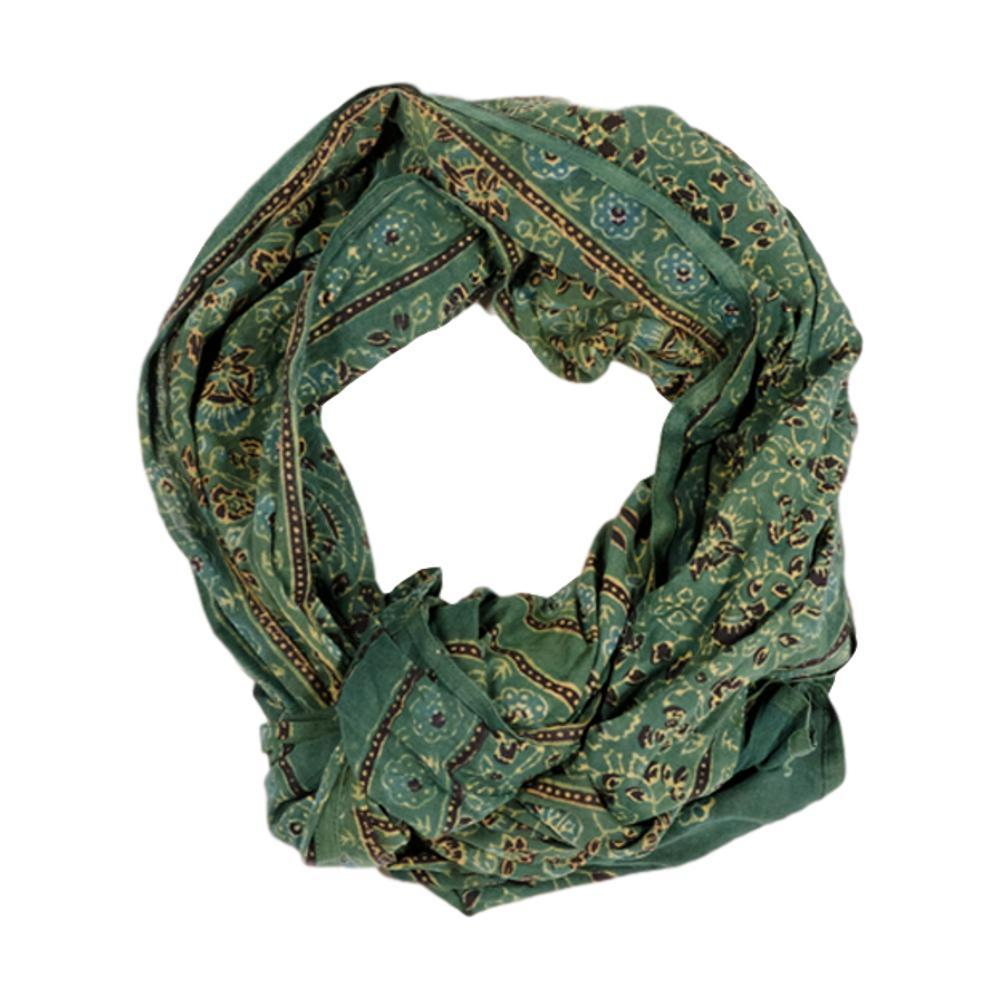 Matr Boomie Printed Voile Stole - Green GREEN
