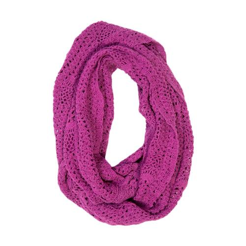 Matr Boomie Lucia Crochet Infinity Scarf - Berry
