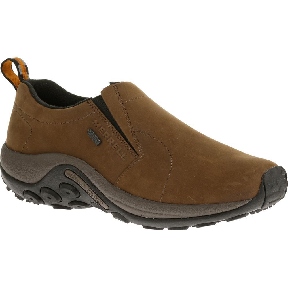 Merrell Men's Jungle Moc Nubuck Waterproof Shoes BROWN