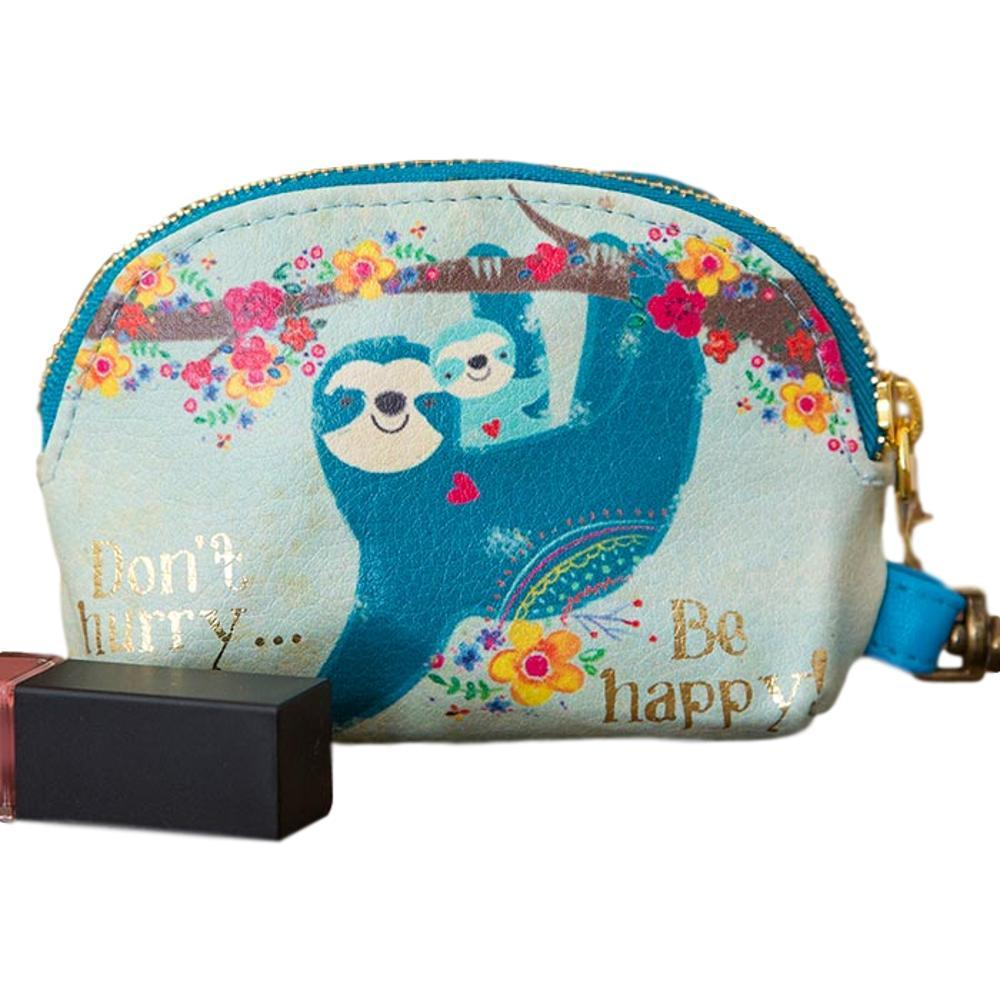 Natural Life Don ' T Hurry Be Happy Vegan Mini Pouch
