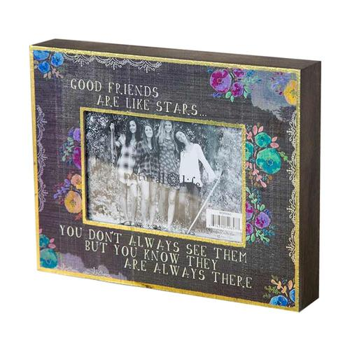 Natural Life Friends Are Like Stars Picture Frame