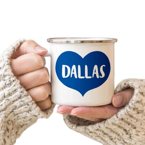 Rock Scissor Paper Big Heart Camp Cup Royal Blue Dallas