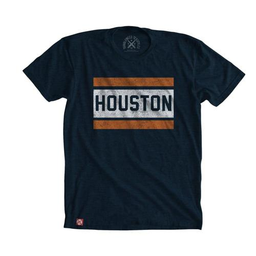 Tumbleweed TexStyles Unisex Block Houston T-Shirt Midnight
