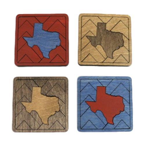 Zootility Texas Puzzle Coasters