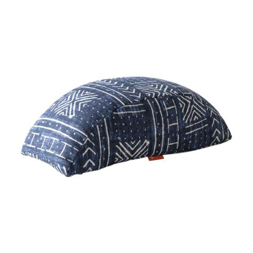 Halfmoon Bridge Cushion - Indigo Mudcloth