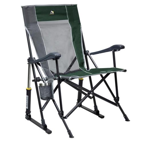 GCI Outdoor RoadTrip Rocker Hard Arm Rocking Chair Hunter