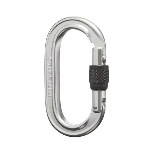 Black Diamond Oval Keylock Screwgate Carabiner Polished