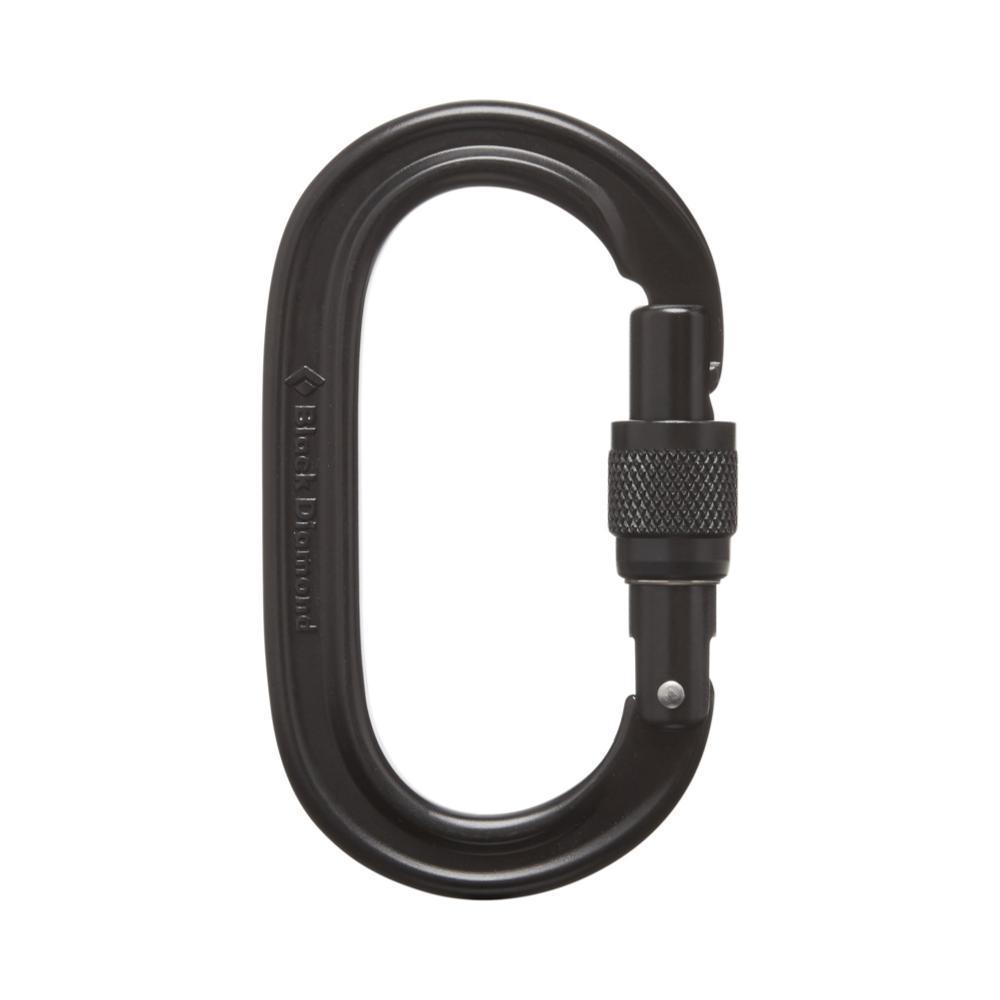 Black Diamond Oval Keylock Screwgate Carabiner BLACK
