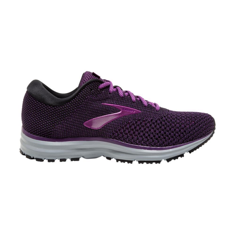 Brooks Women's Revel 2 Road Running Shoes BLK.PRPL_080