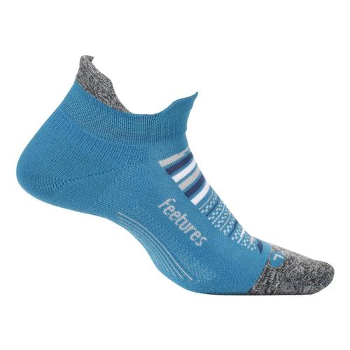 Feetures Unisex Elite Ultra Light No Show Tab Socks Mauiblue