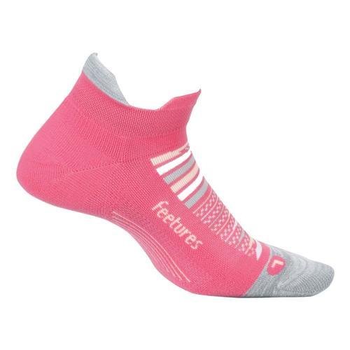 Feetures Unisex Elite Light Cushion No Show Tab Socks Hibiscus
