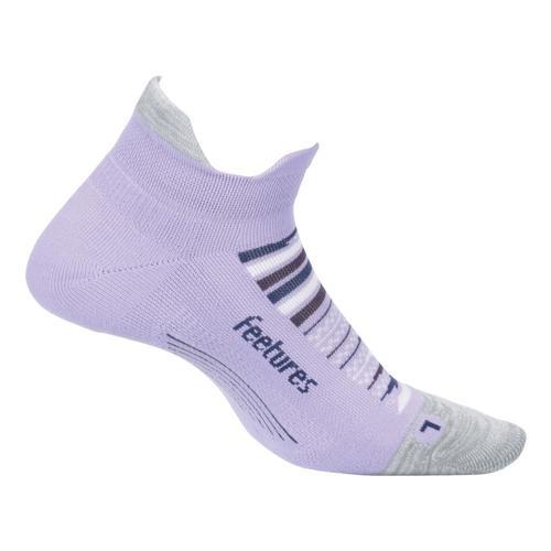 Feetures Unisex Elite Light Cushion No Show Tab Socks Purplehorz