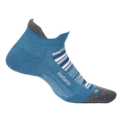 Feetures Unisex Elite Max Cushion No Show Tab Socks Mauiblue