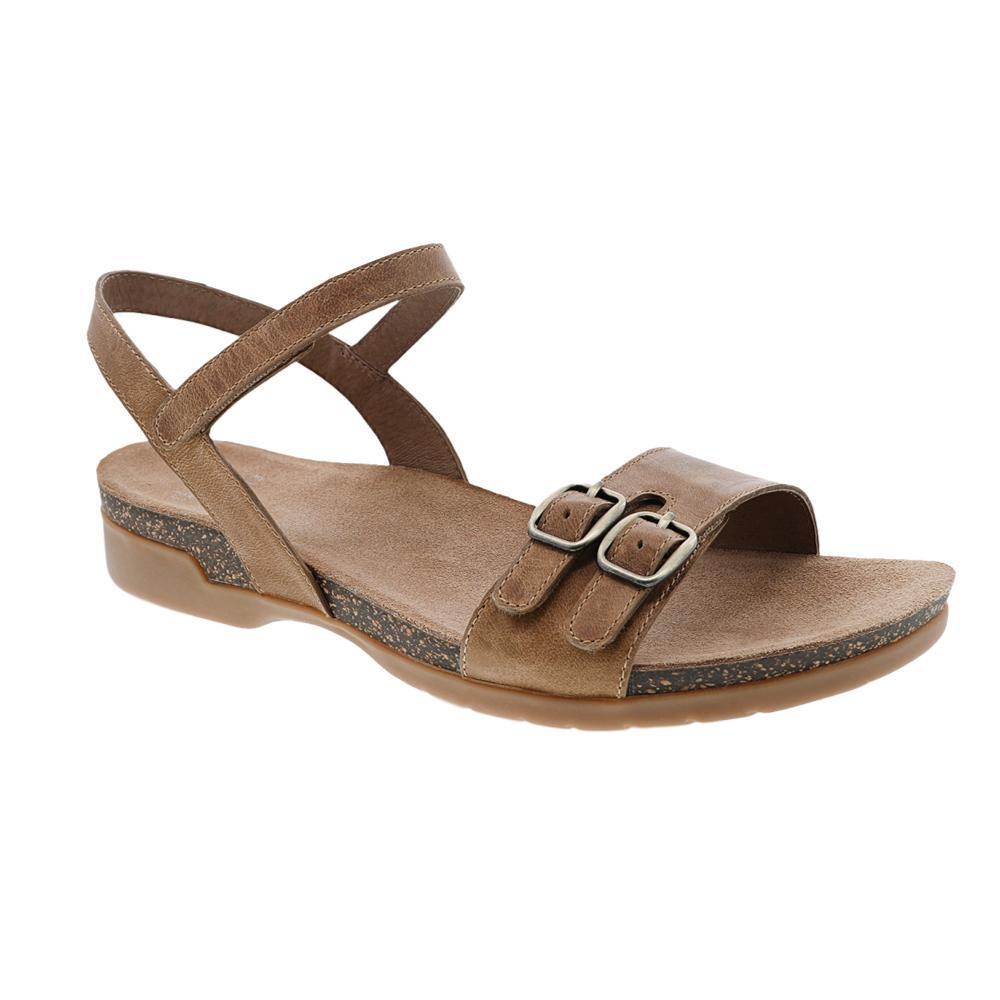Dansko Women's Rebekah Tan Waxy Burnished Sandals TAN