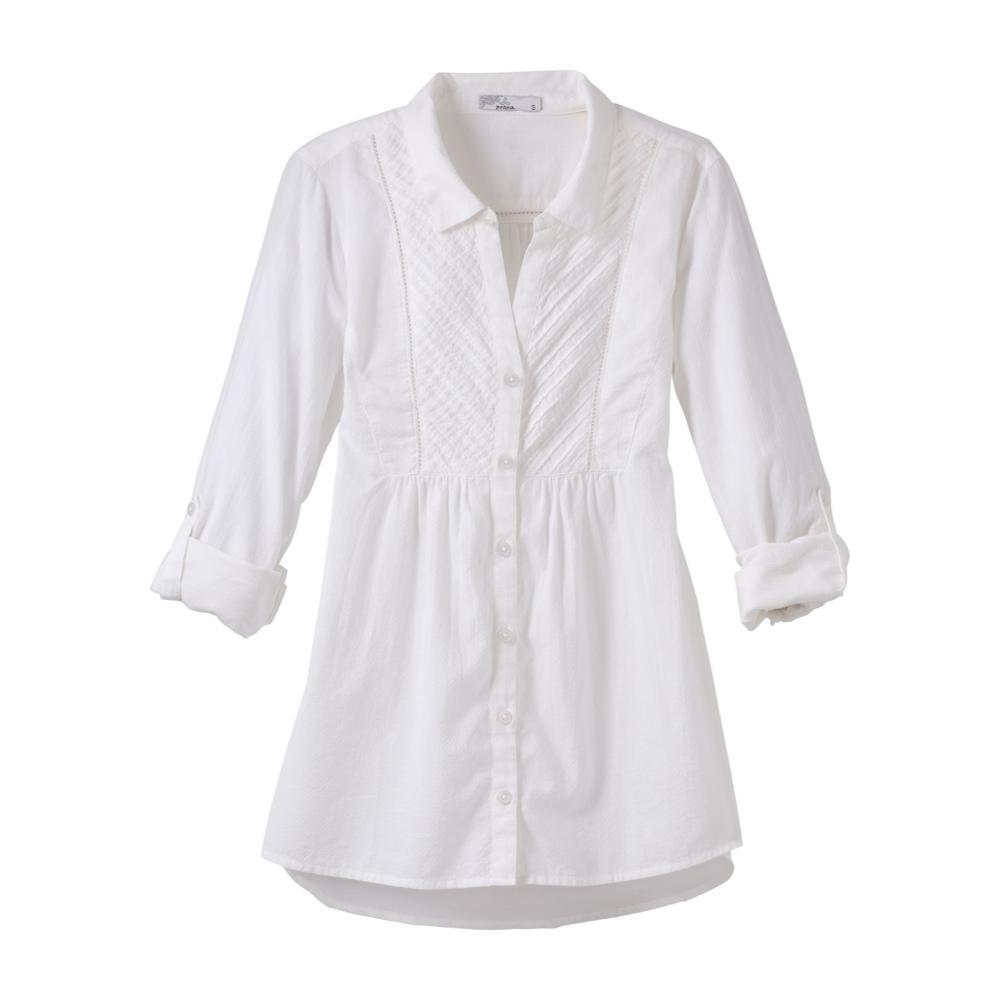 prAna Women's Katya Long Sleeve Top WHITE