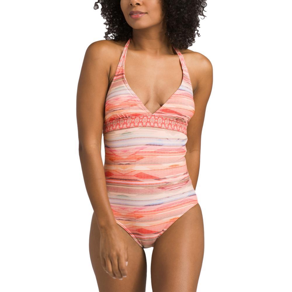 prAna Women's Lahari Halter One Piece Swimsuit PCHBONITA