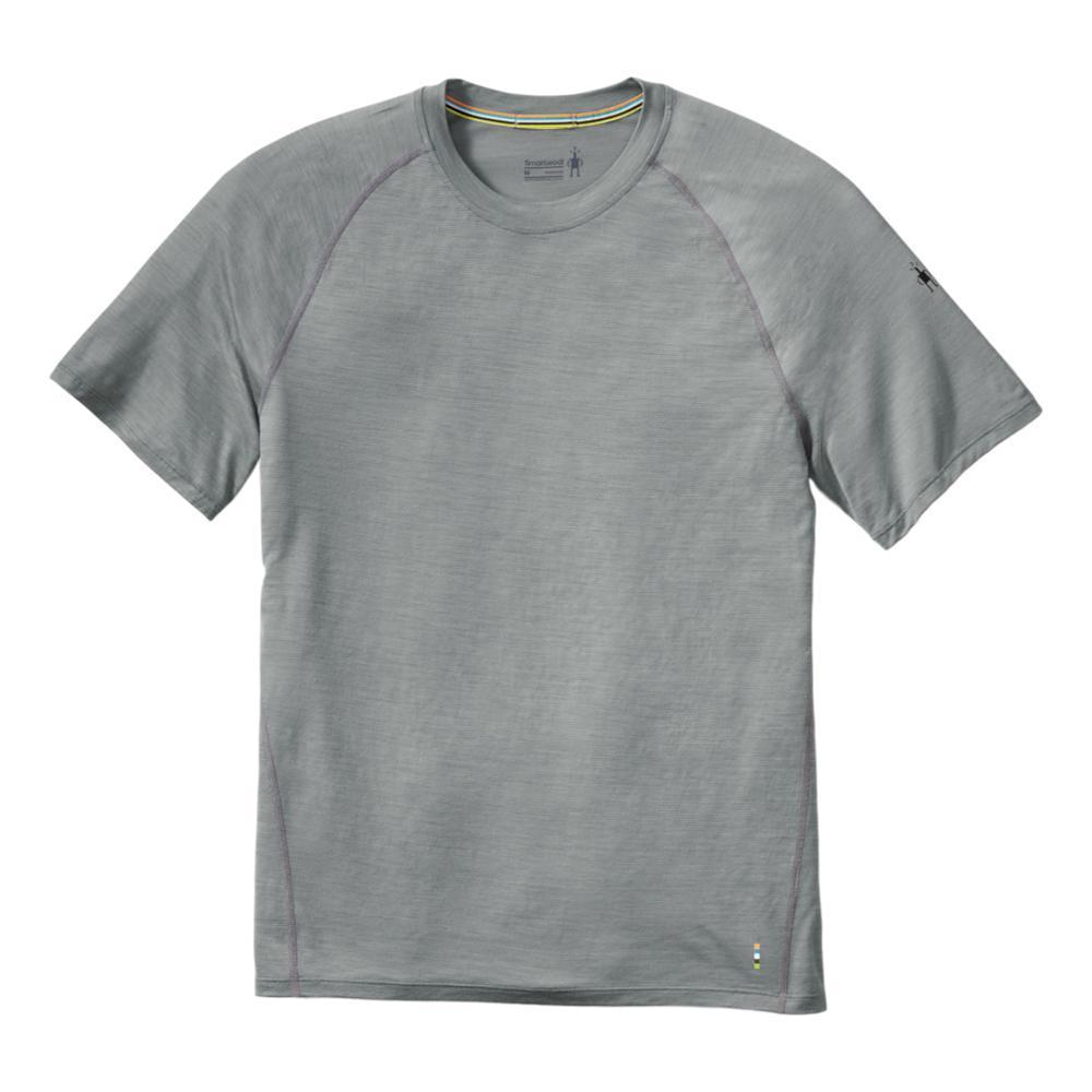 Smartwool Men's Merino 150 Base Layer Micro Stripe Short Sleeve Shirt LTGRAY_039