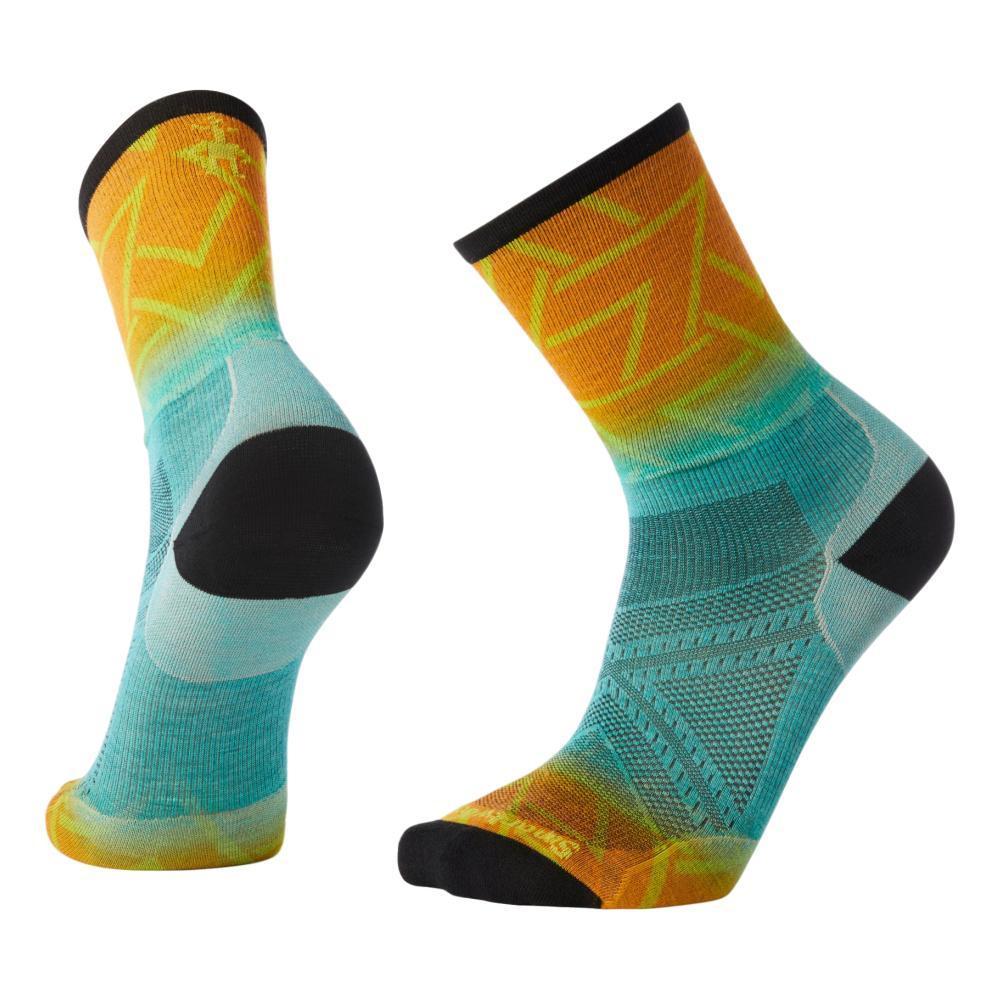 Smartwool Men's PhD Run Ultra Light Print Crew Socks CAPRI_810