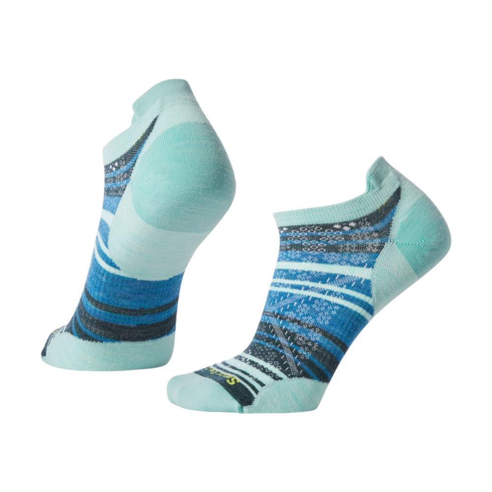 Smartwool Women's PhD Run Ultra Light Striped Micro Socks MINT_362