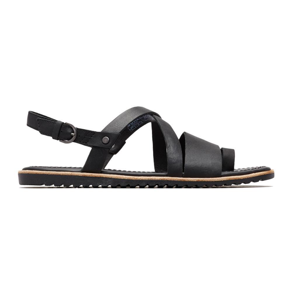 Sorel Women's Ella Criss Cross Sandals BLACK_010
