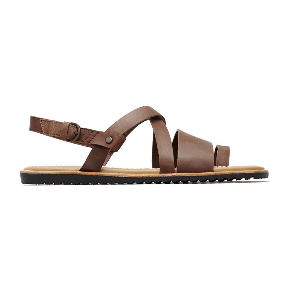 Sorel Women's Ella Criss Cross Sandals TOBAC_256