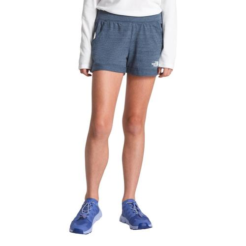 The North Face Girls Tri-Blend Shorts Teal_1lg