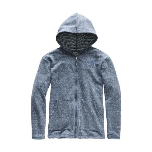 The North Face Girls Long and Long of It Full Zip Hoodie Teal_1lg