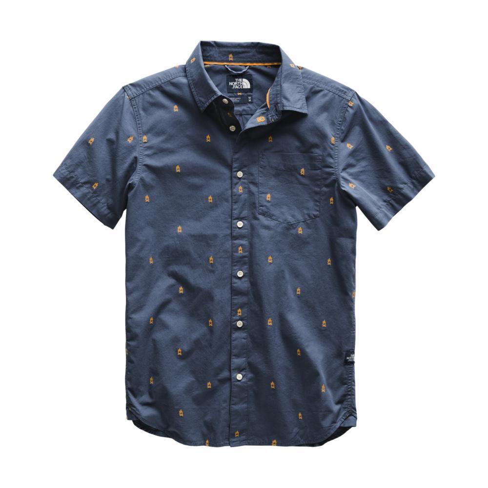 The North Face Men's Short Sleeve Bay Trail Jacquard Shirt 9SW_BLUE