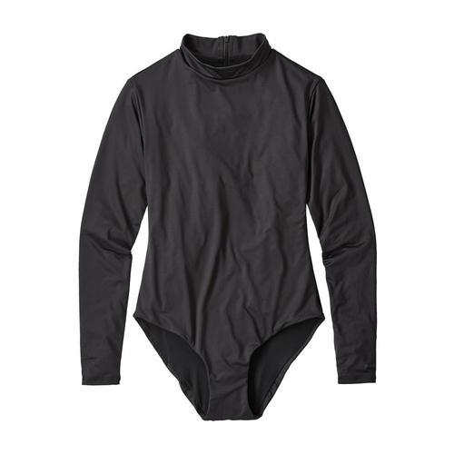 Patagonia Women's Long Sleeved Swell Seeker One Piece Swimsuit Inbk_black