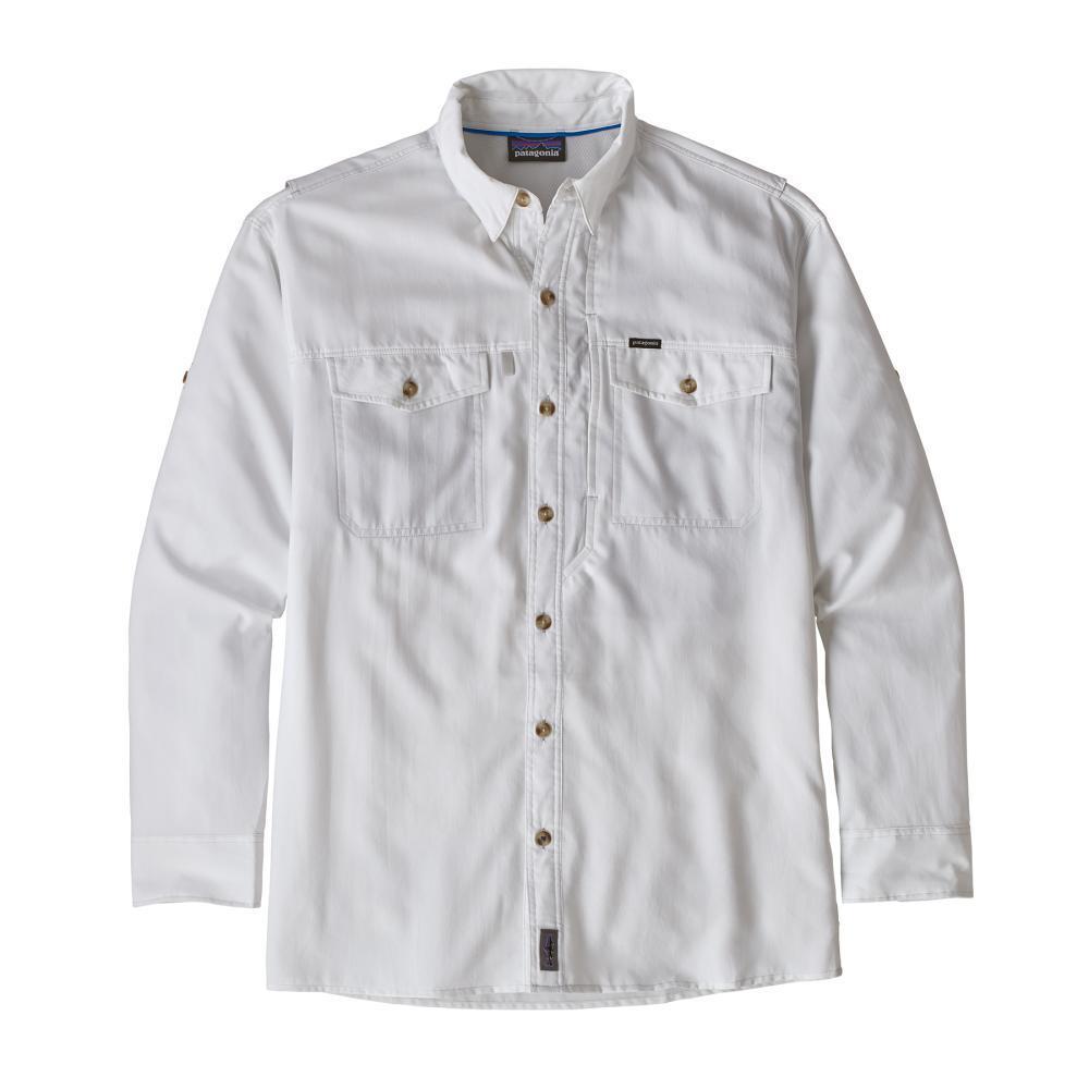 Patagonia Men's Long Sleeved Sol Patrol II Shirt WHI_WHITE