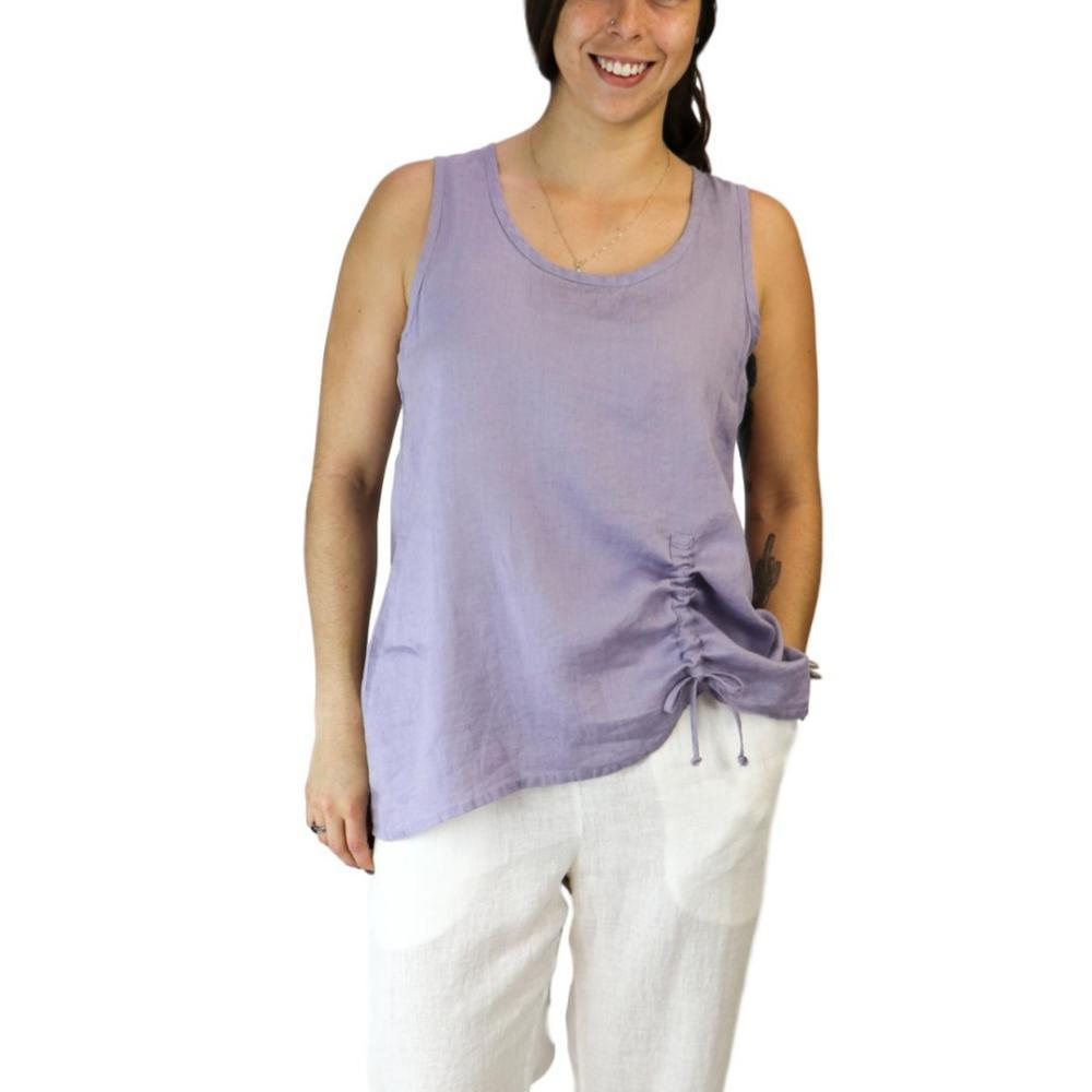 FLAX Women's Ruched Tank Top LAVENDER