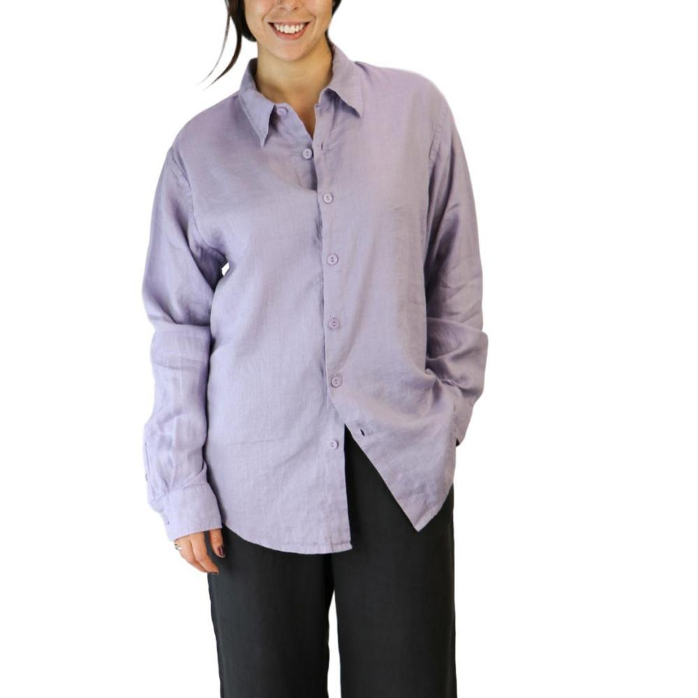 FLAX Women's Men's Shirt LAVENDER
