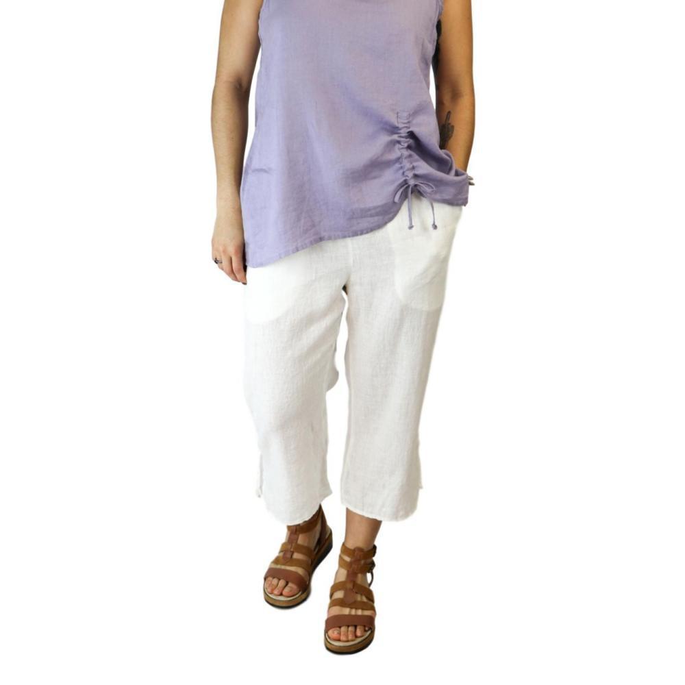 FLAX Women's Capri Pants MILK