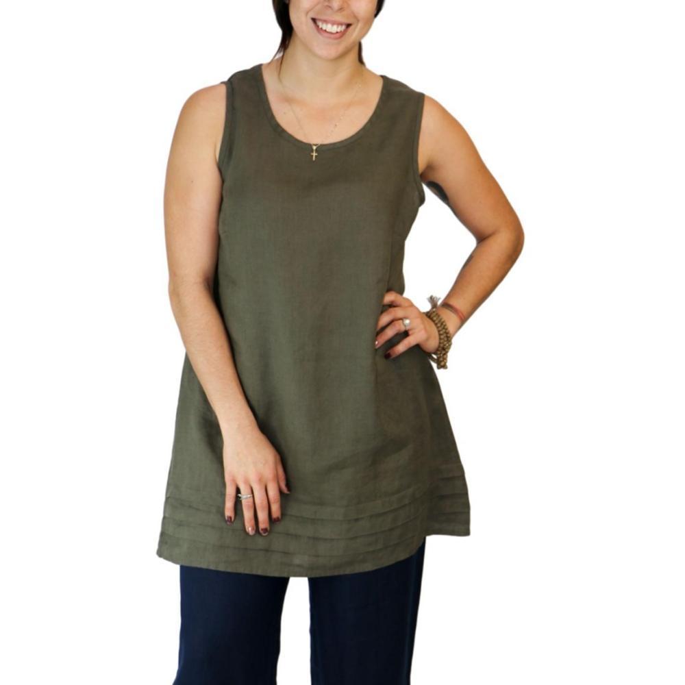 FLAX Women's Tuck Tunic HERB