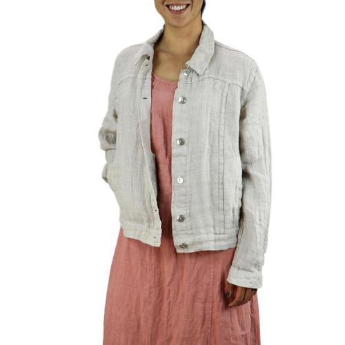 FLAX Women's Jean Jacket Almndpanama