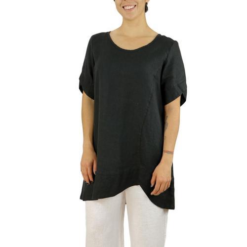 FLAX Women's Scallop Tunic Black