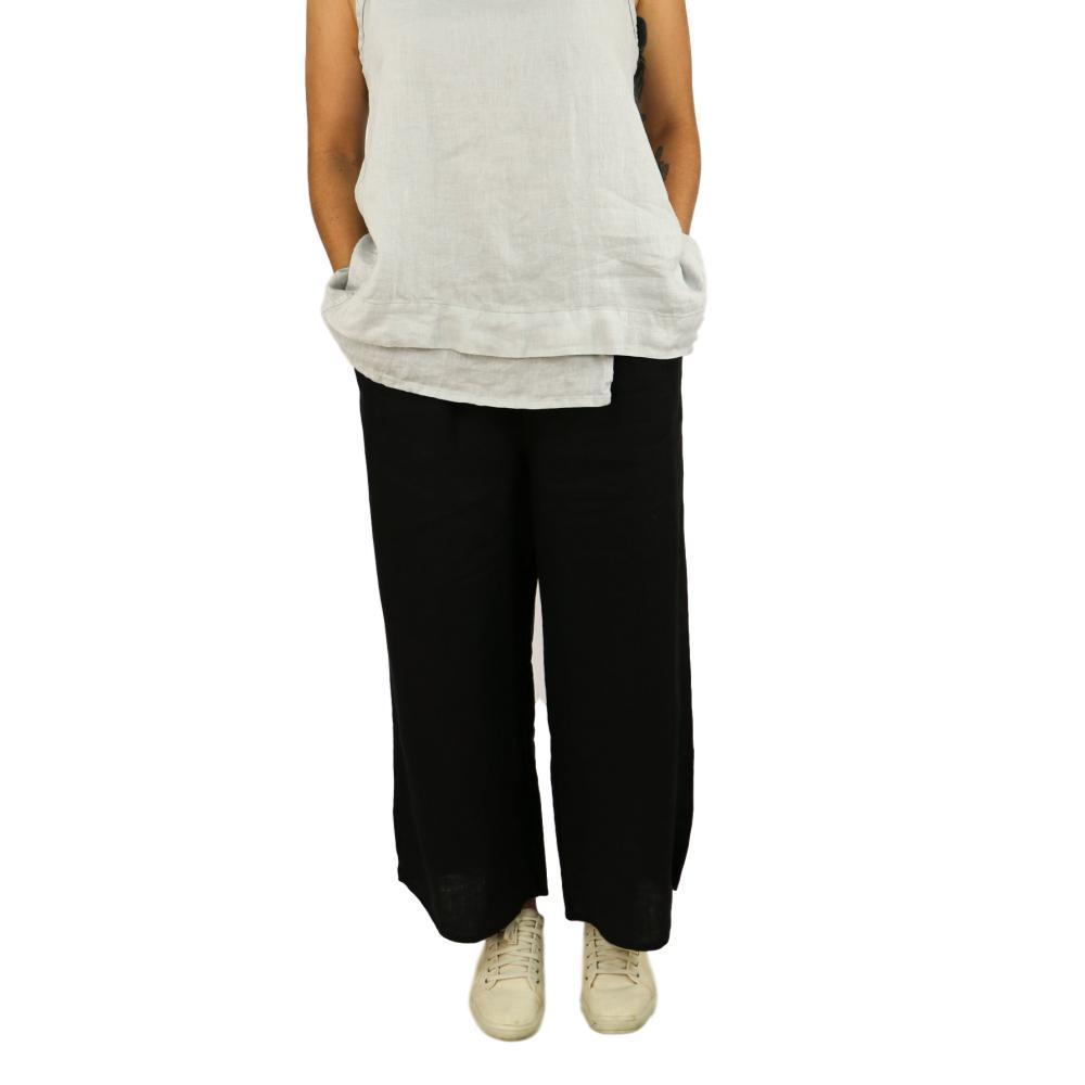 FLAX Women's Airy Flood Pants BLACK