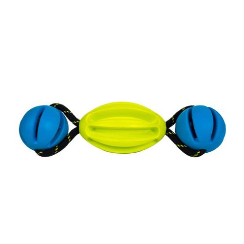 OllyDog Olly Tumbler Dog Toy Lime.Blue