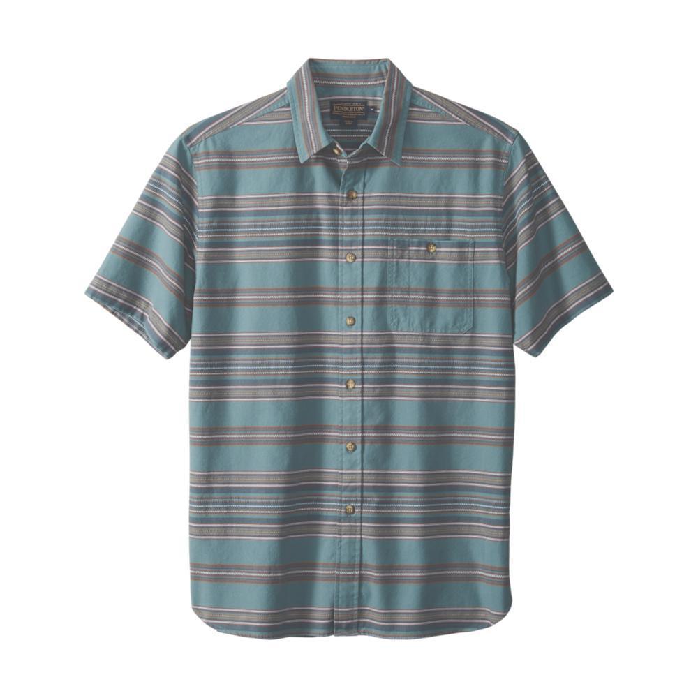 Pendleton Men's Kay Street Stripe Short Sleeve Shirt SILVP65496
