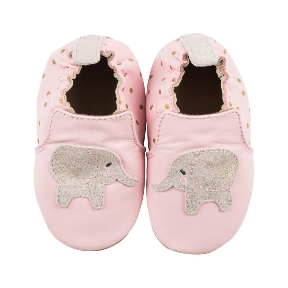 Robeez Baby Pink Ella Elephant Soft Soles Shoes LTPINK