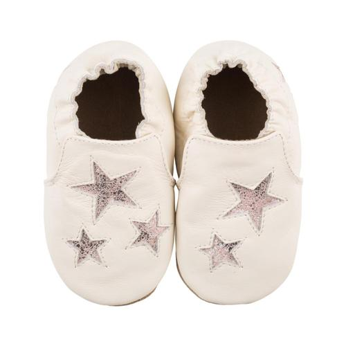 Robeez Baby Ivory Aria Soft Soles Shoes Stars