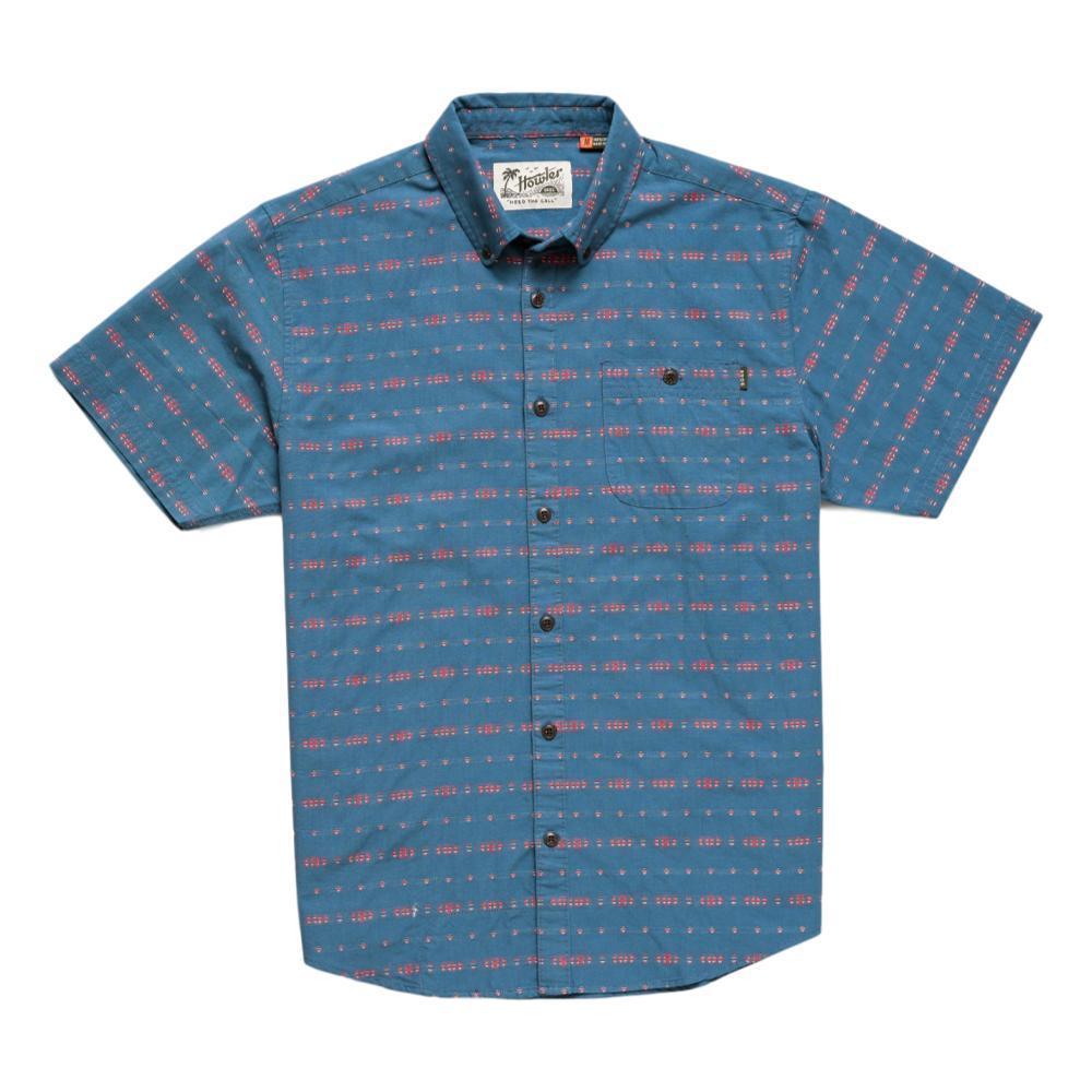 Howler Brothers Men's Mansfield Portals Dobby Short Sleeve Shirt MIDBLUE
