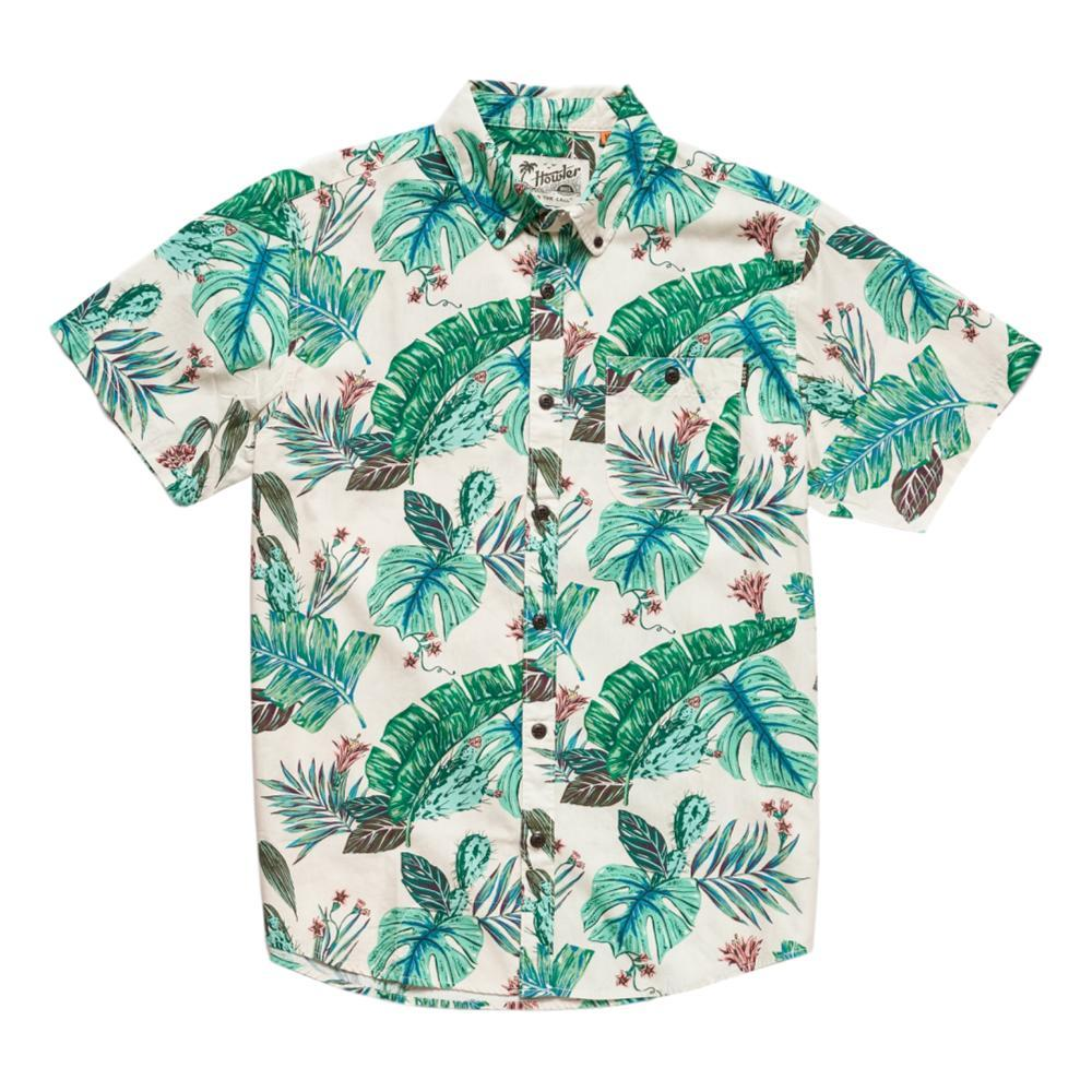 Howler Brothers Men's Mansfield Third Coast Print Short Sleeve Shirt CREAM