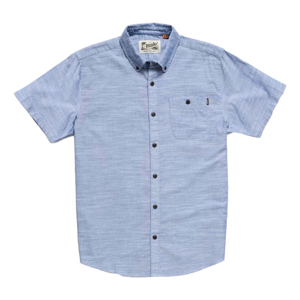 Howler Brothers Men's Mansifield Solid Short Sleeve Shirt BLUECHAMB
