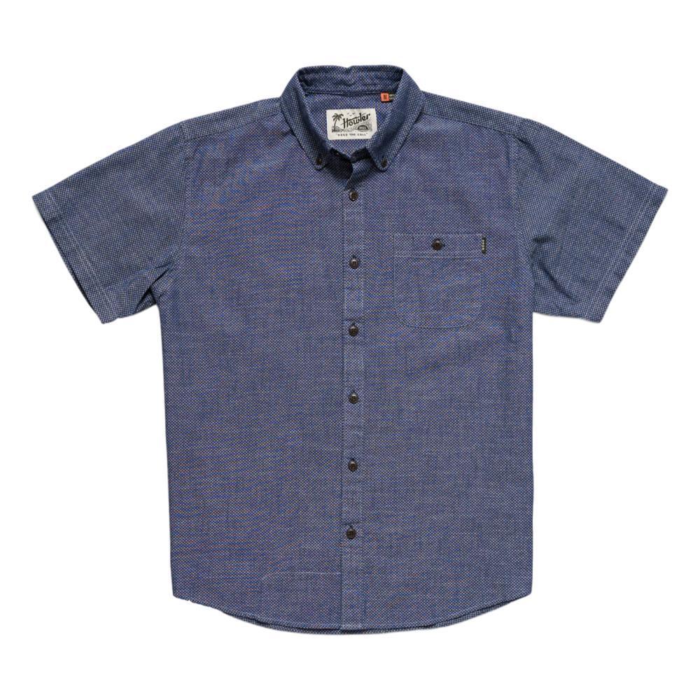 Howler Brothers Men's Mansifield Solid Short Sleeve Shirt INDIGO